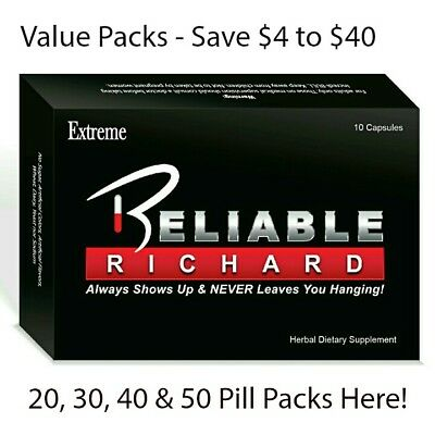 Reliable Richard Extreme Value Packs, #1 Male Sexual Enhancer - #1 Penis Pills