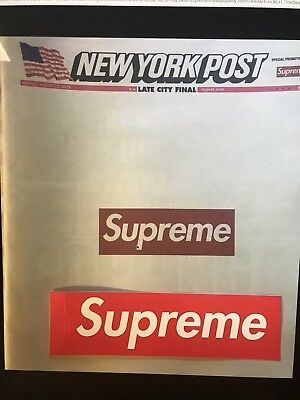 Supreme New York Post Newspaper NEW YORK August 13th 2018 BRAND NEW FAST SHIP