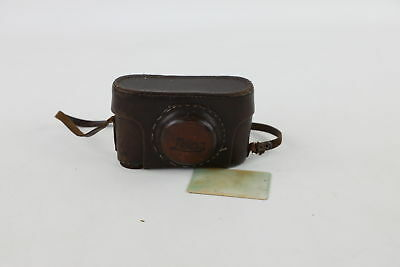 Vintage Russian LEICA CAMERA CASE Brown Leather for Rangefinder Models