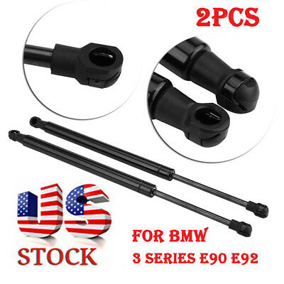 2PCS Black Tailgate Boot Struts Gas Spring Hood Lifters For BMW 3 Series E90 E92