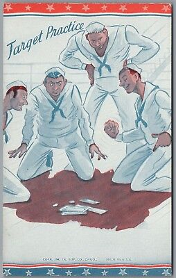 """1941 Wwii Military """"target Practice"""" Gambling, Ex Sup Co Exhibit Arcade Card"""