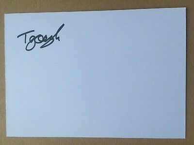 Taylor Gough - English Rugby Player Signed 6x4 Card