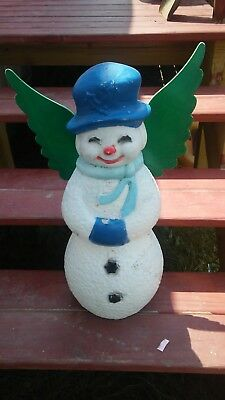 union snowman angel christmas blow mold