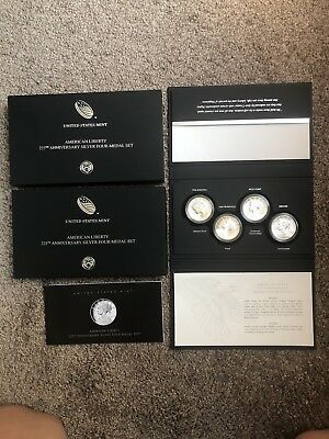 2017 American Liberty 225th Anniversary Silver Four-Medal Set with Box & COA