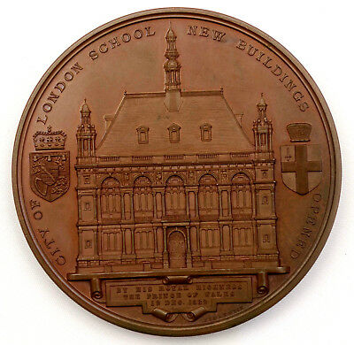 Joseph Shepherd Wyon medal 1882 - New Buildings of the City of London School