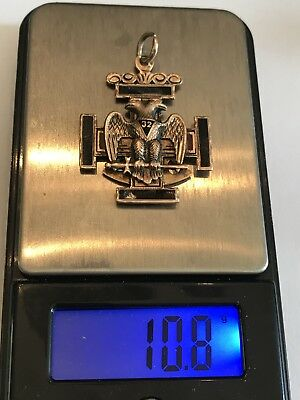10K Gold Masonic Double-head Eagle Pendant Fob Scrap Keep 10.8g