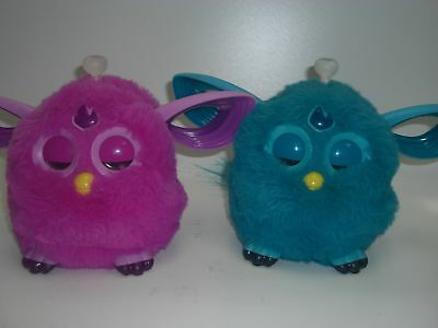 Pair of Furby Connect Bluetooth Interactive toys 1 Pink, 1 Blue #785