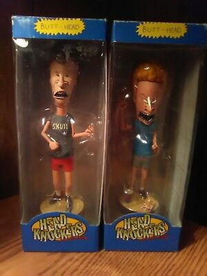 NECA BEAVIS and BUTT-HEAD Head Knockers Bobbleheads pre-owned