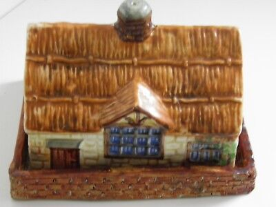 Vintage - Beswick Ware Thatched Cottage Cheese/Butter Dish.