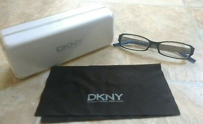 Blue Silver Black DKNY Designer Ladies Reading Glasses Frames With Box Hipster