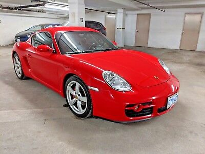 Porsche: Cayman Leather 2007 Porsche Cayman, Red with Black int. Manual gear shift.