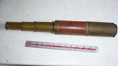 Dolland day or night brass/wood telescope for repair