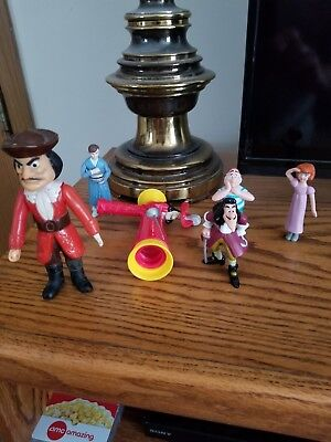 Disney Rare Captain Hook Plus Other Figures from Peter Pan Mr Smee, Wendy