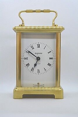 BAYARD 8 Day vintage carriage clock. Made in France. Working order. Brass.