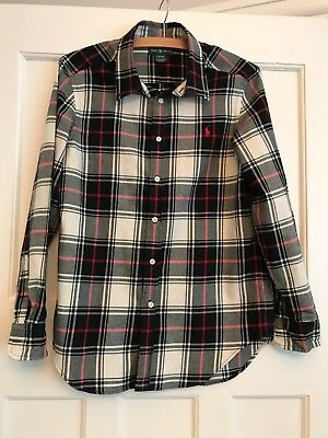 Boys Ralph Lauren long sleeve check shirt, size Large (14-16 years)