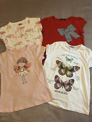 Bundle Of Pretty Girls Tshirts Aged 7-8 Lovely Condition