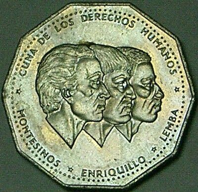 Dominican Republic 1983 1 Peso    NICELY TONED UNC