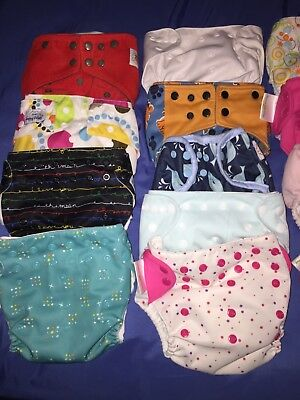 cloth diapers lot used bum genius mama koala alva baby happy flute