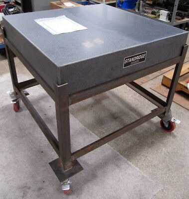 """STANDRIDGE 36""""x36"""" Granite Surface Plate / Inspection Table 6""""-Thick with Stand"""