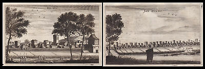 1668 China Ansicht Stadt view city Asia Asien Kupferstich antique print Nieuhof