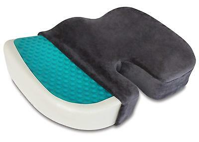 Coccyx Orthopedic Gel Foam Seat Pad Cushion Chair Back Support Comfort Enhanced