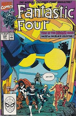 Fantastic Four #340 May 1990 Marvel Comics. The Black Celestial! FN