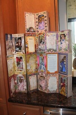 Marie Osmond Story Book Porcelain Dolls - Lot of 10 - NIB - Beautiful Collection