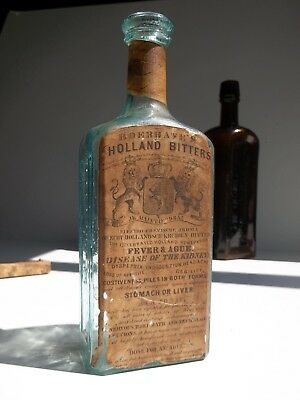 "B 134 ~ ""B. PACE JR ~ BOERHAVE'S HOLLAND BITTERS ~ PITTSBURGH, PA"" ~ Full Label"