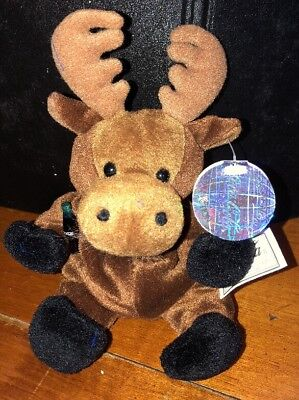 1999 Coca-Cola Canada Gourmand the Moose Mini Bean Bag-Beanie NWT