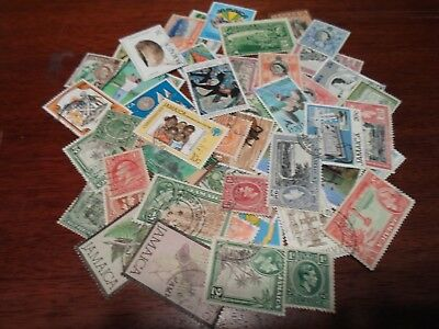 Collection lot 50 different stamps of Jamaica