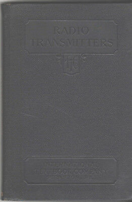 Intl. Textbook Company RADIO TRANSMITTERS 1930 spark morse code old book