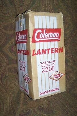 Coleman Lantern- Vintage- Model 220 E- With Original Box-Made In The Usa