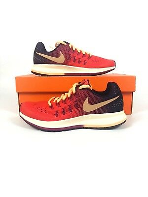size 40 c2967 637f1 Nike Zoom Pegasus 33 (GS) Youth Womens Size Running Shoes Ember 834317-800