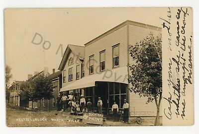 RPPC Heltzel Block Store WARDENSVILLE WV Hardy County Real Photo Postcard