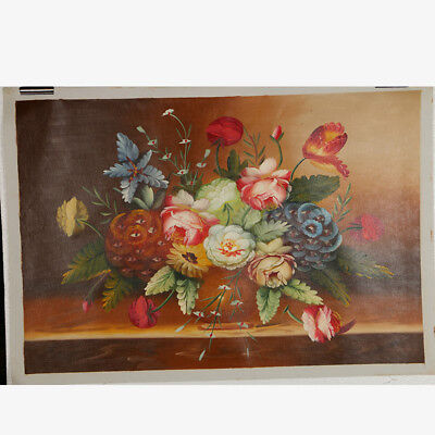 """Hand-painted Oil Painting On Canvas - Pained Floral 24""""x36"""" DYH047"""
