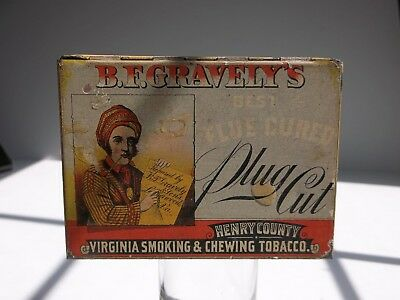 """B. F. Gravely & CO~HENRY COUNTY VIRGINIA SMOKING & CHEWING TOBACCO"" Tin"
