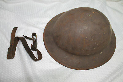 WW1 Doughboy Helmet With Chinstrap, No liner