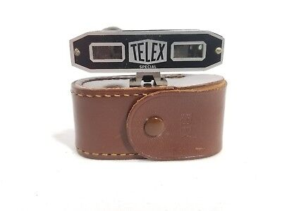 ALCO TELEX Range Finder In Original Leather Case. Made in Germany.