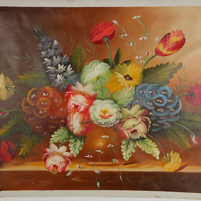 """Hand-painted Oil Painting On Canvas - Pained Floral 24""""x36"""" DYH043"""