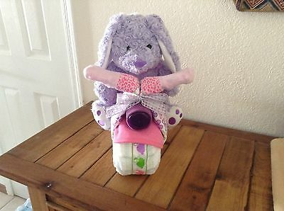Bunny Motorcycle Diaper Cake