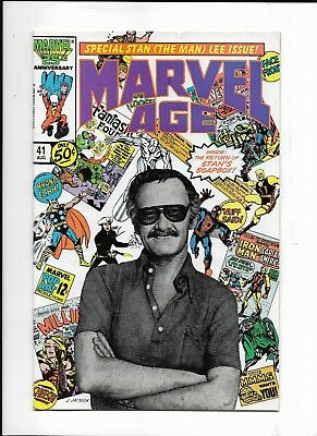 Marvel Age #41 (August,1986 Marvel) Stan Lee Issue VF