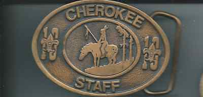 Boy Scout Circle Ten Council Camp Cherokee Staff Belt Buckle