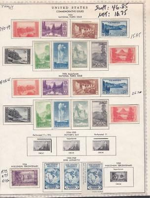 1¢ Wonder's ~ Us #740//765 Mh On Album Page Imperf/perf Parks C/s All Shown~ U71