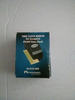 Acroprint PD122 Time Clock Ribbon for PD100 Time Clock, 39-0133-000 Lot Of 11