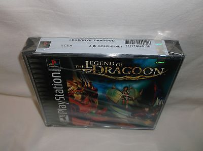 PS1 - THE LEGEND OF DRAGOON - New & Sealed *Black Label* Y-Fold - FLAWLESS
