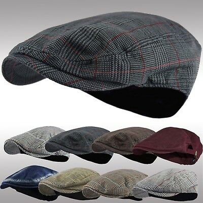 0f1a948062e Mens Summer Newsboy Cap Light Weight Ivy Cap Cabbie Driving Golf Hat L XL  IV1035