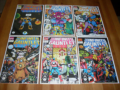 Infinity Gauntlet 1 2 3 4 5 6, NM, Thanos X-Men Spider-Man Avengers Thor, 1-6
