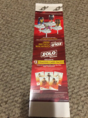 Denny's Han Solo Star Wars Unsued Table Topper AD card 2018