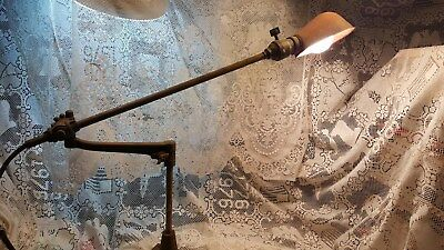 Vintage O.c. White Machinist Industrial Articulating Lamp
