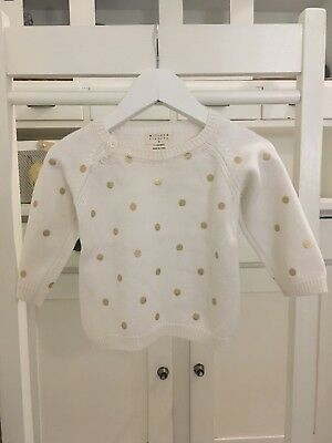 WILSON & FRENCHY Gold Spot Knit Size 0 6-12 Months